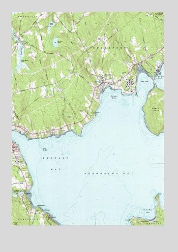 Searsport, ME Topographic Map   TopoQuest