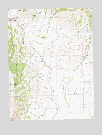 Secret Valley, NV USGS Topographic Map
