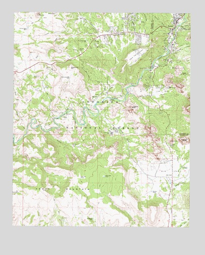 Map Of Arizona Including Sedona.Sedona Az Topographic Map Topoquest