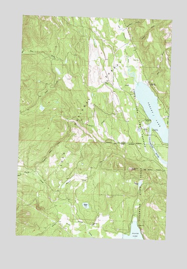 Seeley Lake West, MT USGS Topographic Map