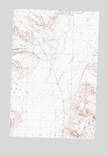 Sheep Coulee, MT USGS Topographic Map