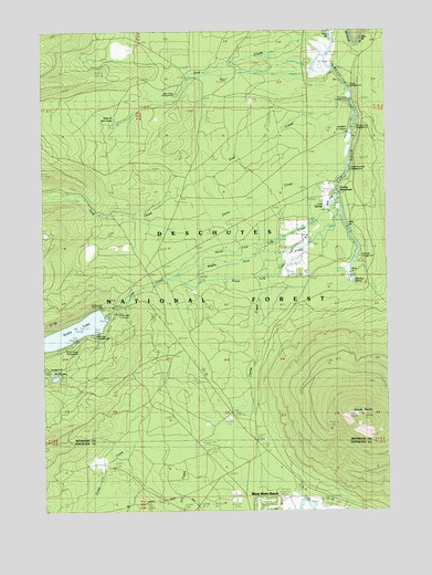 Black Butte, OR USGS Topographic Map