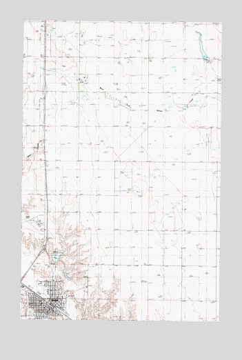 Shelby, MT USGS Topographic Map