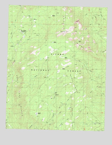 Shuteye Peak, CA USGS Topographic Map