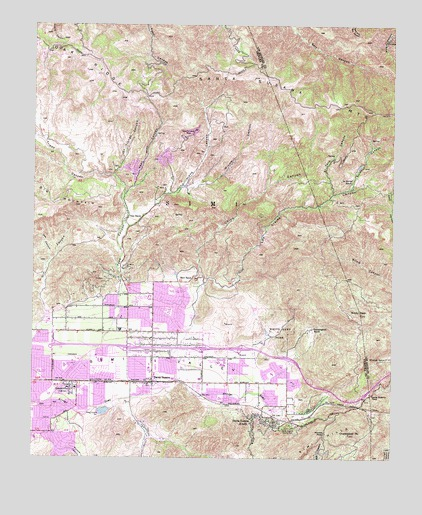 Simi Valley East, CA USGS Topographic Map