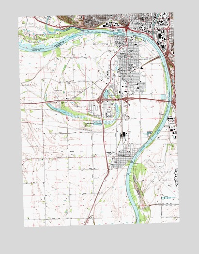 Sioux City South, IA USGS Topographic Map