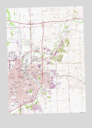 Sioux Falls East, SD Topographic Map - TopoQuest