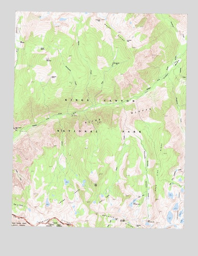Slide Bluffs, CA USGS Topographic Map