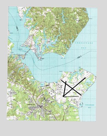 Solomons Island, MD Topographic Map - TopoQuest