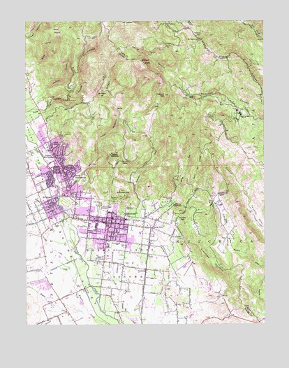 Sonoma, CA USGS Topographic Map