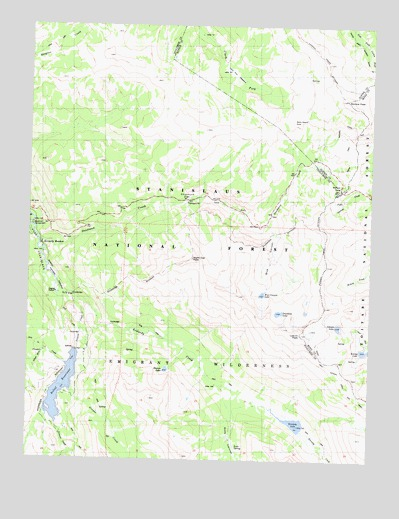 Sonora Pass, CA USGS Topographic Map