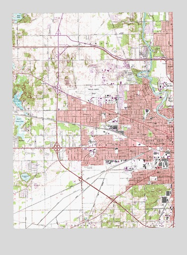 South Bend West IN Topographic Map TopoQuest - South bend map