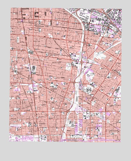 South Gate, CA USGS Topographic Map
