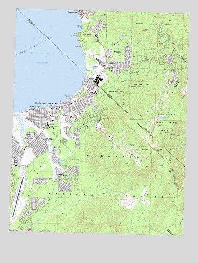 south lake tahoe elevation map South Lake Tahoe Ca Topographic Map Topoquest