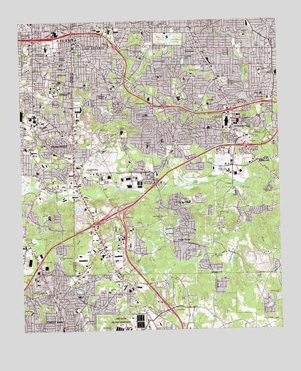 Southeast Atlanta GA Topographic Map TopoQuest - Georgia topographic map
