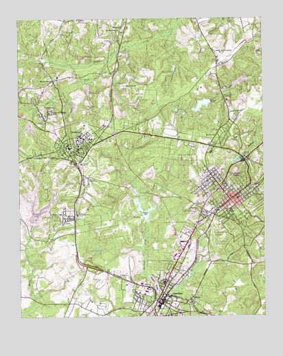 Southern Pines Nc Topographic Map Topoquest