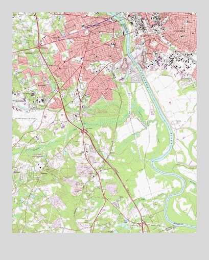 Southwest Columbia Sc Topographic Map Topoquest