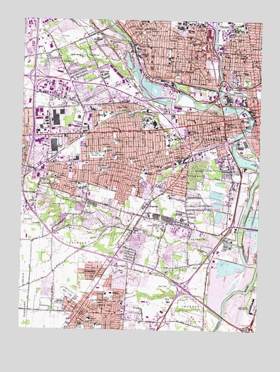 Southwest Columbus, OH Topographic Map   TopoQuest