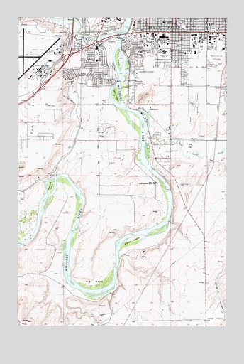 Southwest Great Falls, MT USGS Topographic Map