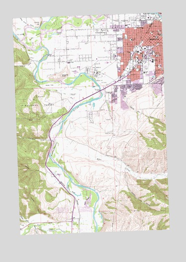 Southwest Missoula Mt Topographic Map Topoquest