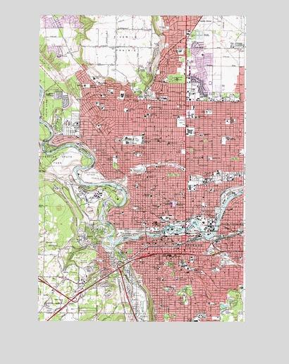 Spokane Elevation Map.Spokane Nw Wa Topographic Map Topoquest
