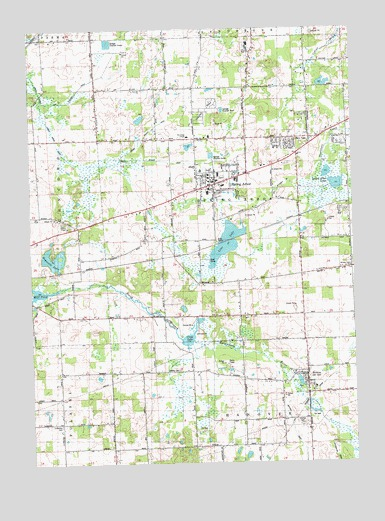 Spring Arbor Michigan Map.Spring Arbor Mi Topographic Map Topoquest
