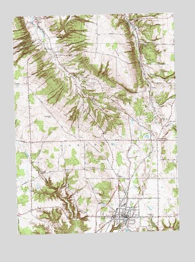 Springville, NY Topographic Map - TopoQuest