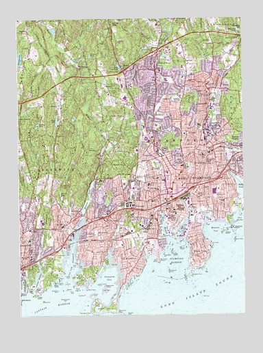 Stamford, CT Topographic Map   TopoQuest
