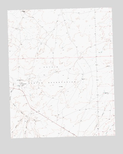 Standing Rock, NM USGS Topographic Map