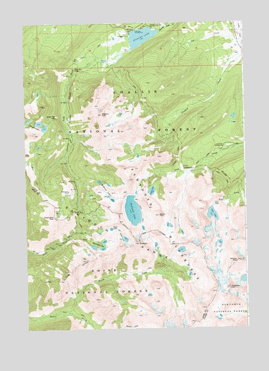Stanley Lake, ID USGS Topographic Map