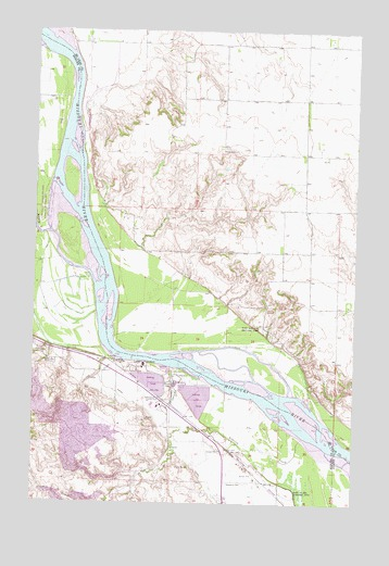 Stanton SE, ND USGS Topographic Map