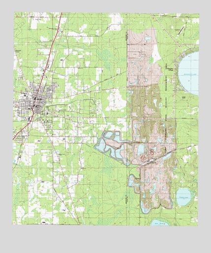 Starke Fl Topographic Map Topoquest