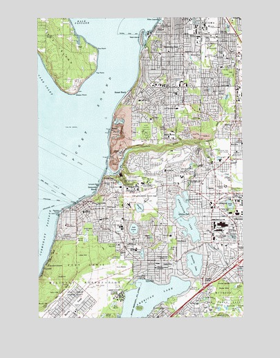 Steilacoom, WA USGS Topographic Map