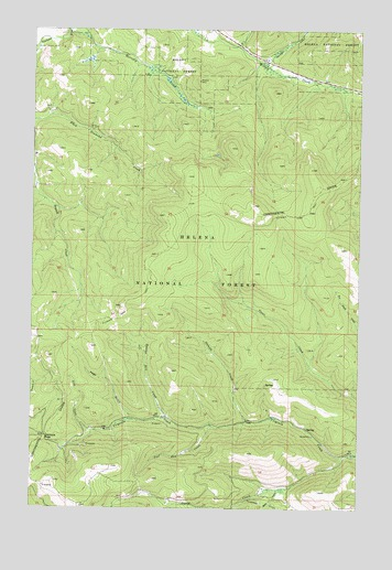 Stemple Pass, MT USGS Topographic Map