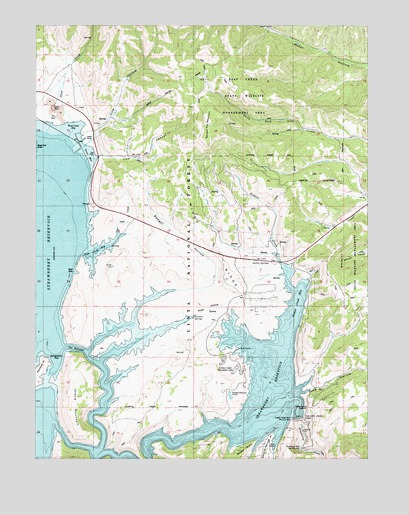 Strawberry Reservoir NE, UT USGS Topographic Map