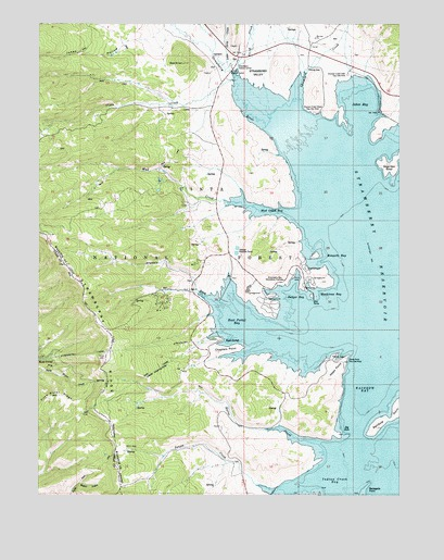 Strawberry Reservoir Map Strawberry Reservoir NW, UT Topographic Map   TopoQuest Strawberry Reservoir Map
