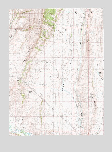 Sublet, WY USGS Topographic Map