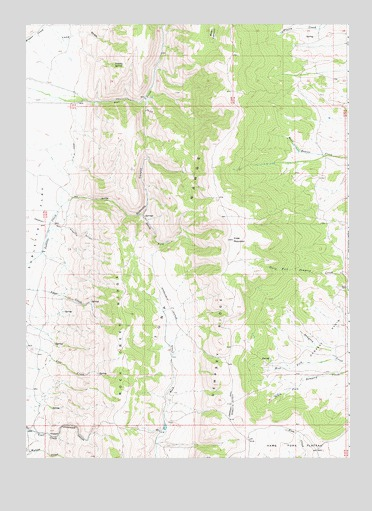Sublette Canyon, WY USGS Topographic Map