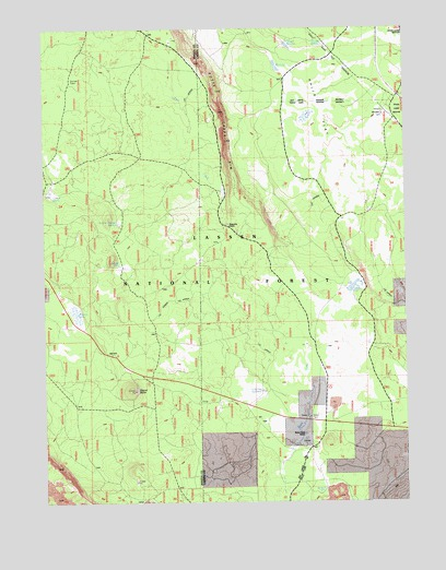 Swains Hole, CA USGS Topographic Map