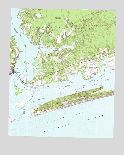 Swansboro, NC Topographic Map   TopoQuest