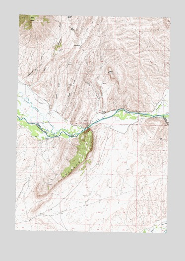 Block Mountain, MT USGS Topographic Map