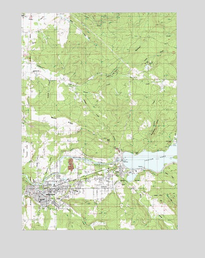 Sweet Home, OR Topographic Map - TopoQuest