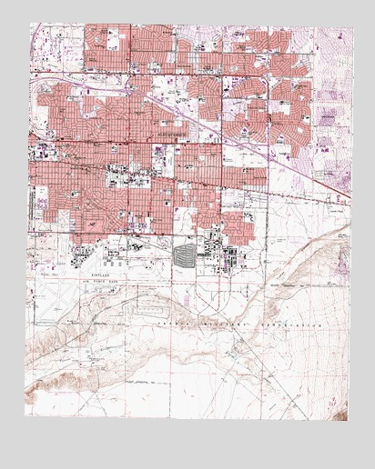 Albuquerque East, NM Topographic Map   TopoQuest