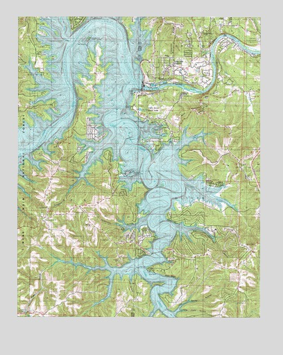table rock lake topographic map Table Rock Dam Mo Topographic Map Topoquest table rock lake topographic map