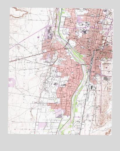 Albuquerque West, NM Topographic Map   TopoQuest