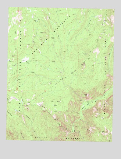 Tehipite Dome, CA USGS Topographic Map