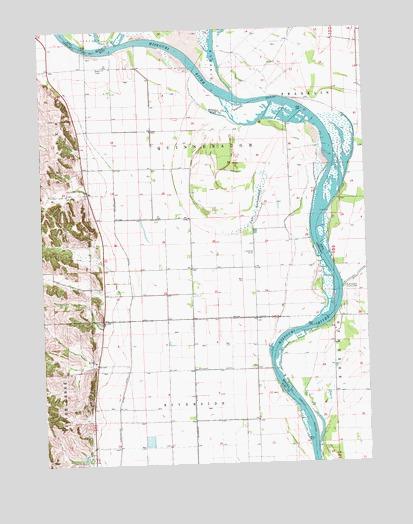 Tekamah NW NE Topographic Map  TopoQuest