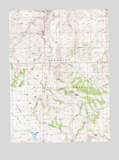 Tennessee Mountain, NV USGS Topographic Map