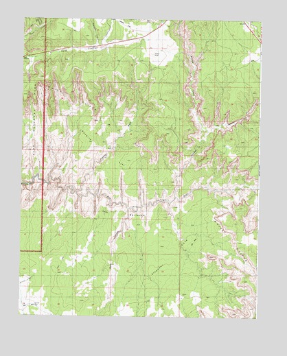 The Barracks, UT USGS Topographic Map