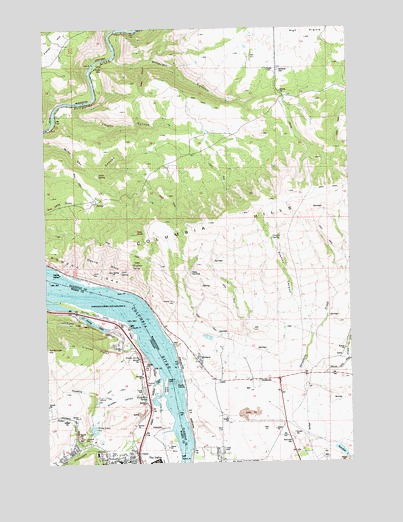 The Dalles North Or Topographic Map Topoquest